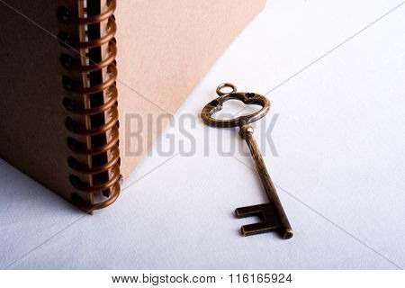 Key And Spiral Notebook