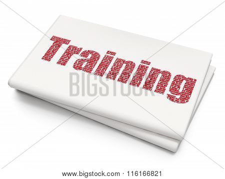 Studying concept: Training on Blank Newspaper background