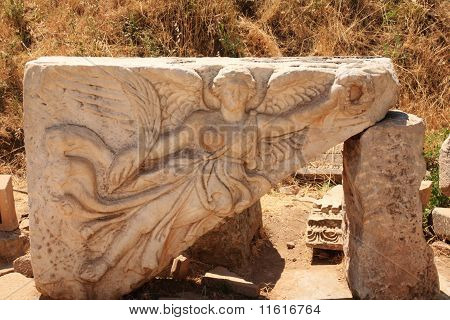 Angel Engraved Into The Ruins At Ephesus