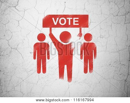Politics concept: Election Campaign on wall background