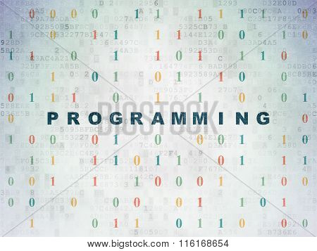 Programming concept: Programming on Digital Paper background