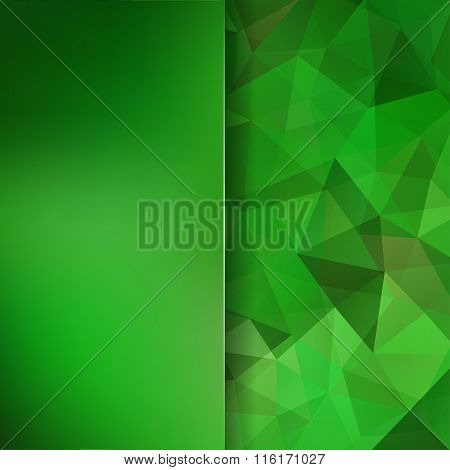 Abstract Geometric Style Green Background. Green Business Background Blur Background With Glass. Vec