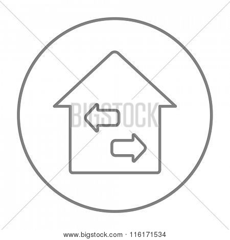Property resale line icon.