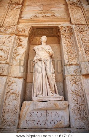 Sophia, The Statue Of Wisdom At Ephesus