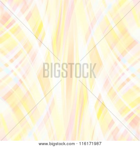 Shine Glow Background. Pastel Yellow, White Colors. Wallpaper Pattern. Abstract Shapes.