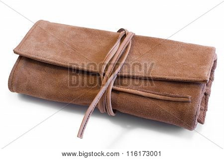 Leather Purse Or Clutch On Ties