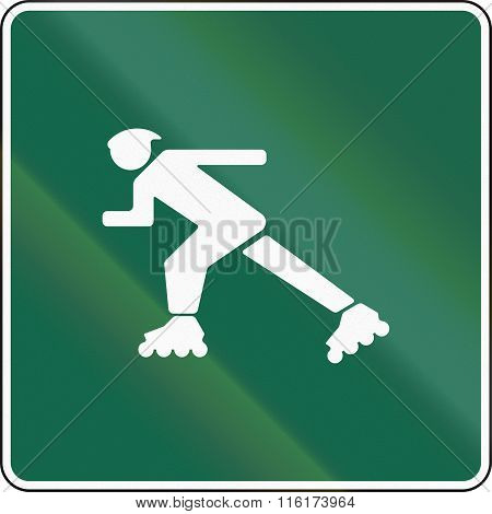 United States Mutcd Road Sign - Inline-skate Route