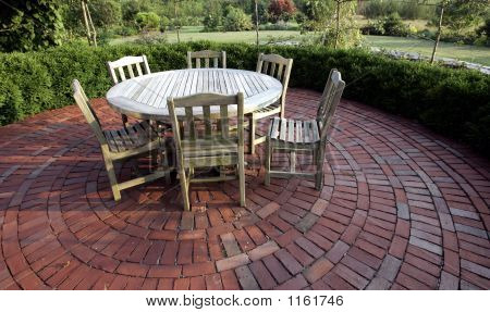 Brick Circle Patio