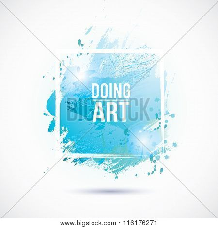 Watercolor-blue-doing-art