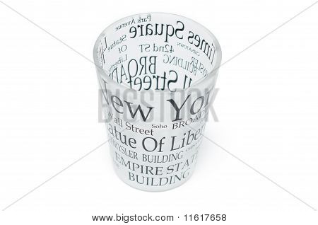 Glass With Inscriptions