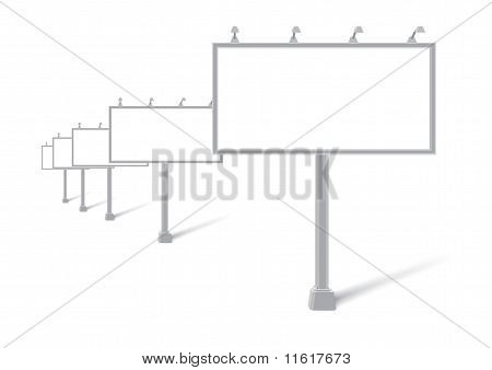 Vector outdoor billboards