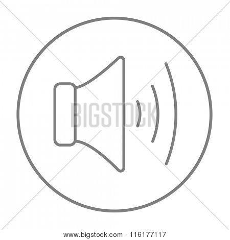 Speaker volume line icon.