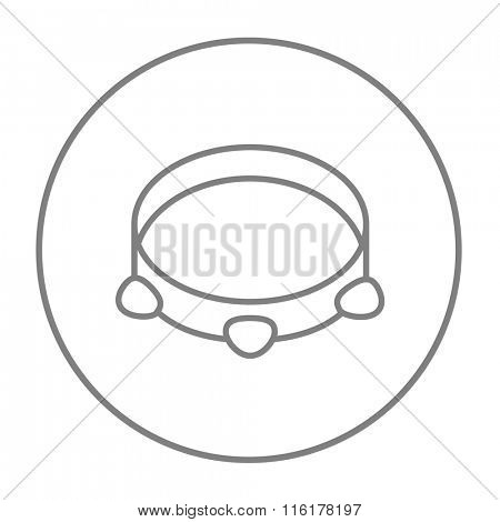 Tambourine line icon.