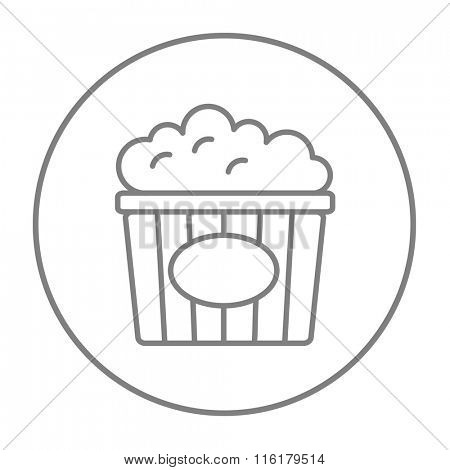 Popcorn line icon.