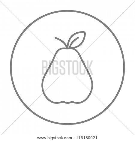 Pear line icon.