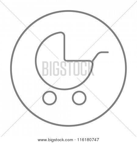 Baby stroller line icon.