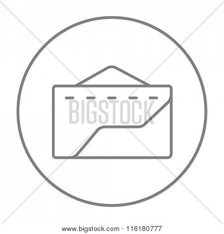 Factory line icon.