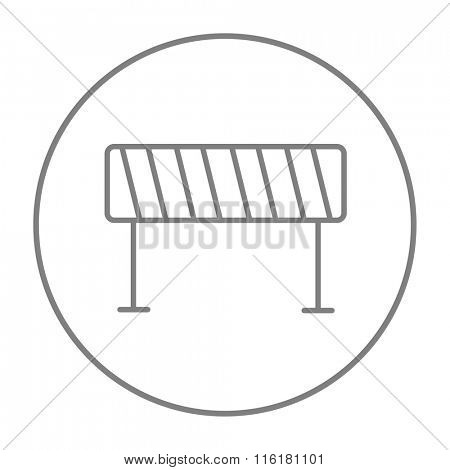 Road barrier line icon.