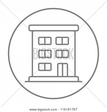 Residential buildings line icon.