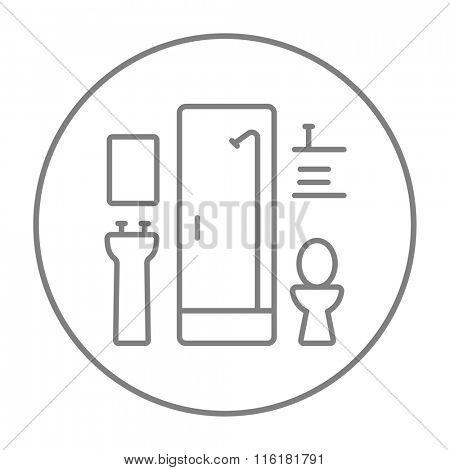 Bathroom line icon.