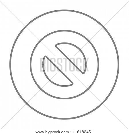 Not allowed sign line icon.