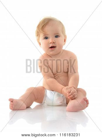 Infant Child Baby Girl Toddler Sitting Thinking