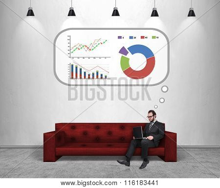 Businessman Thinking About Success In Business