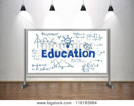 Education Concept On Whiteboard