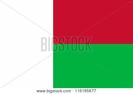 Standard Proportions For Madagascar Flag