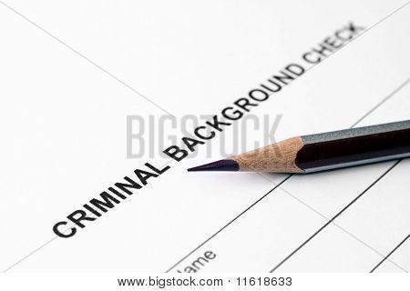 Kriminelle Hintergrundüberprüfung