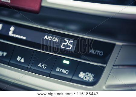Car's Controlpanel In Interior