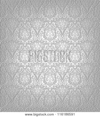 Vector illustration of grey wallpaper pattern