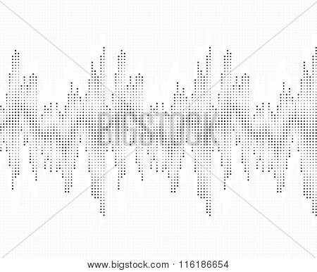 Sound wave pattern. Isolated on white background.