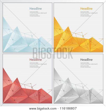geometric rumpled triangular low poly style