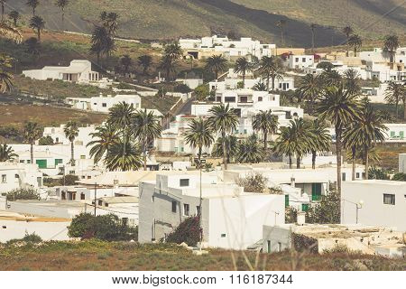 La Haria In Lanzarote - Popular Tourist Destination.