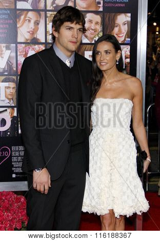 Ashton Kutcher and Demi Moore at the Los Angeles Premiere of