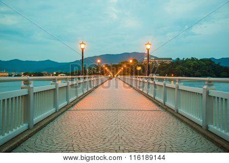 Night Light On The Bridge