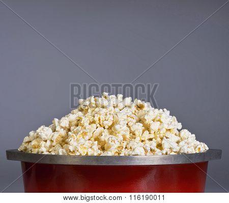 Popcorn In Kettle.