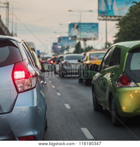 Traffic Jam In Rush Hour