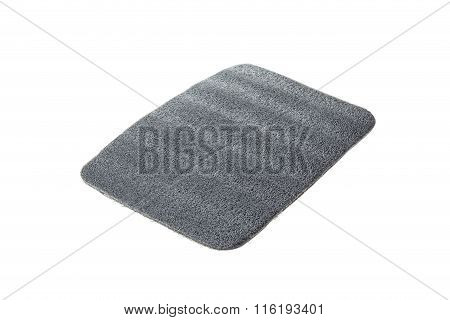 Piece Of Black Soft Foam Used For Shipping Isolated On White