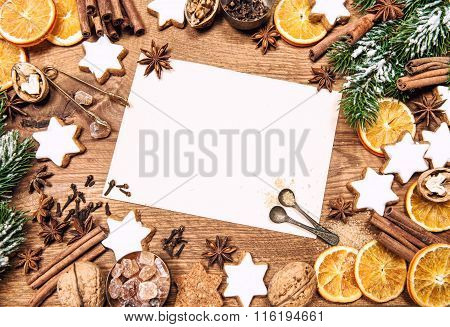 Christmas Decorations And Holidays Sweet Food Ingredients