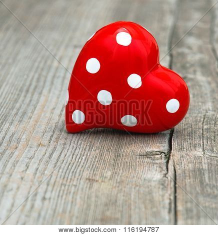 Red Heart. Love And Valentines Day