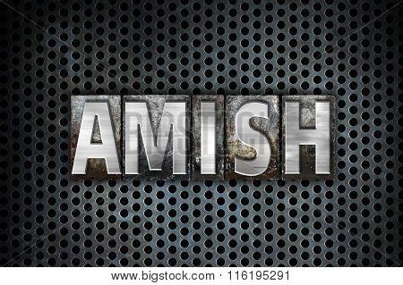 Amish Concept Metal Letterpress Type
