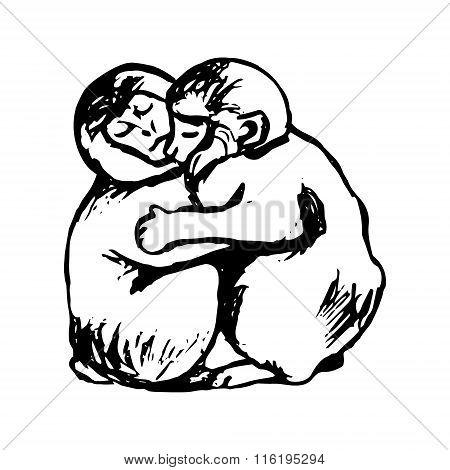 Monkeys Hug (graphics)