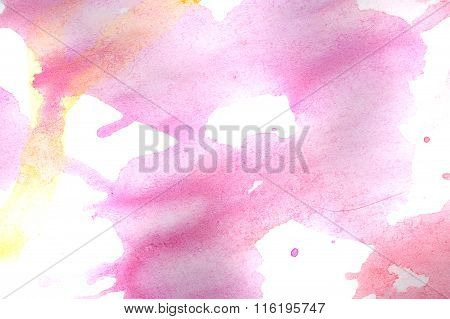 Magenta Abstraction In A Children Style.