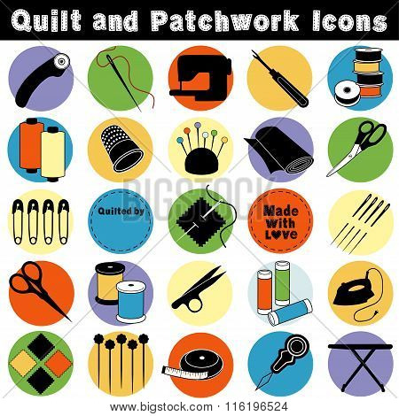 Quilt And Patchwork Icons