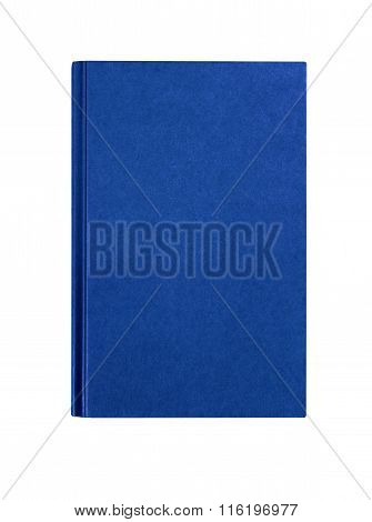 Royal Blue Plain Hardcover Book Front Cover Upright Vertical Isolated On White