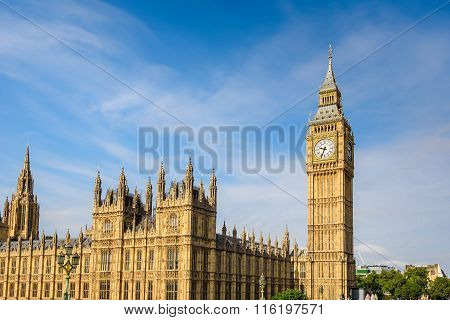 Big Ben And House Of Parliament, London, Uk