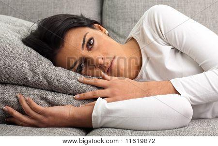 Girl Resting