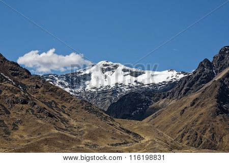 Snowy Andes Mountain In Peru 25